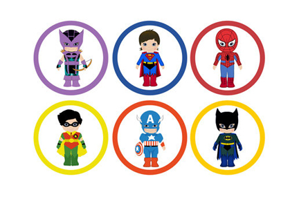 Free superhero cliparts.