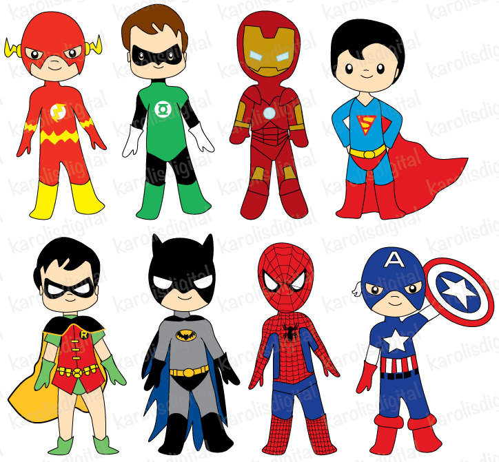 faces clipart superhero