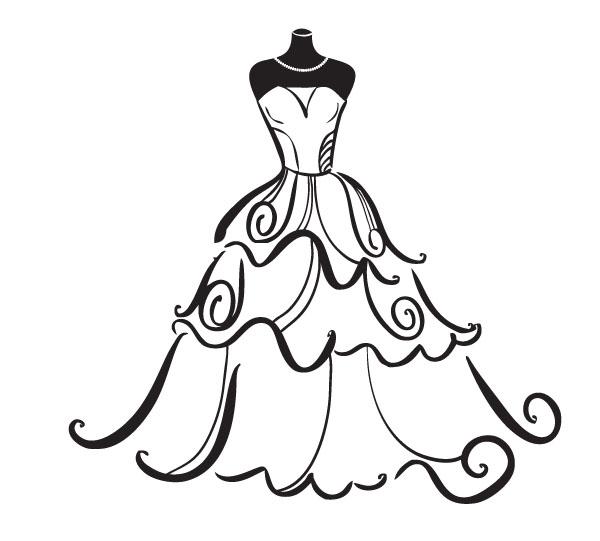 Wedding dress outline.