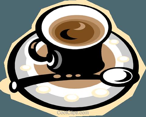 Espresso coffee Royalty Free Vector Clip Art illustration