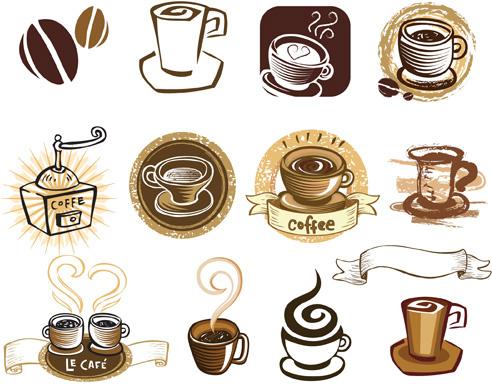 Vintage of retro coffee labels vector Free vector in Adobe