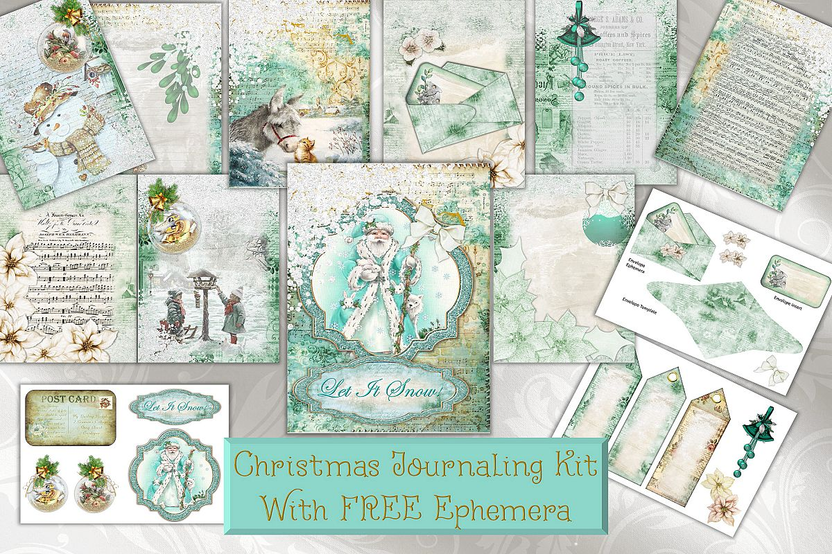 Christmas FREE Clipart and Printable kit with Commercial Use