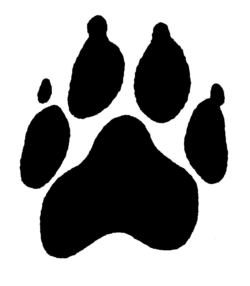 paw print border clipart panther