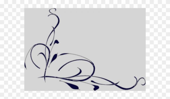 Elegant swirl designs.