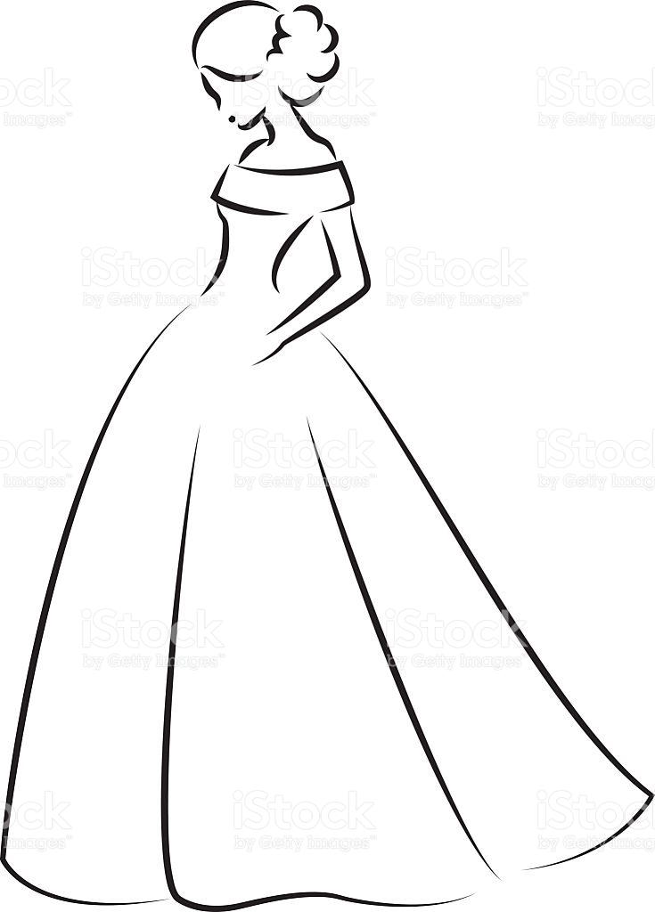 Bridal clipart elegant.