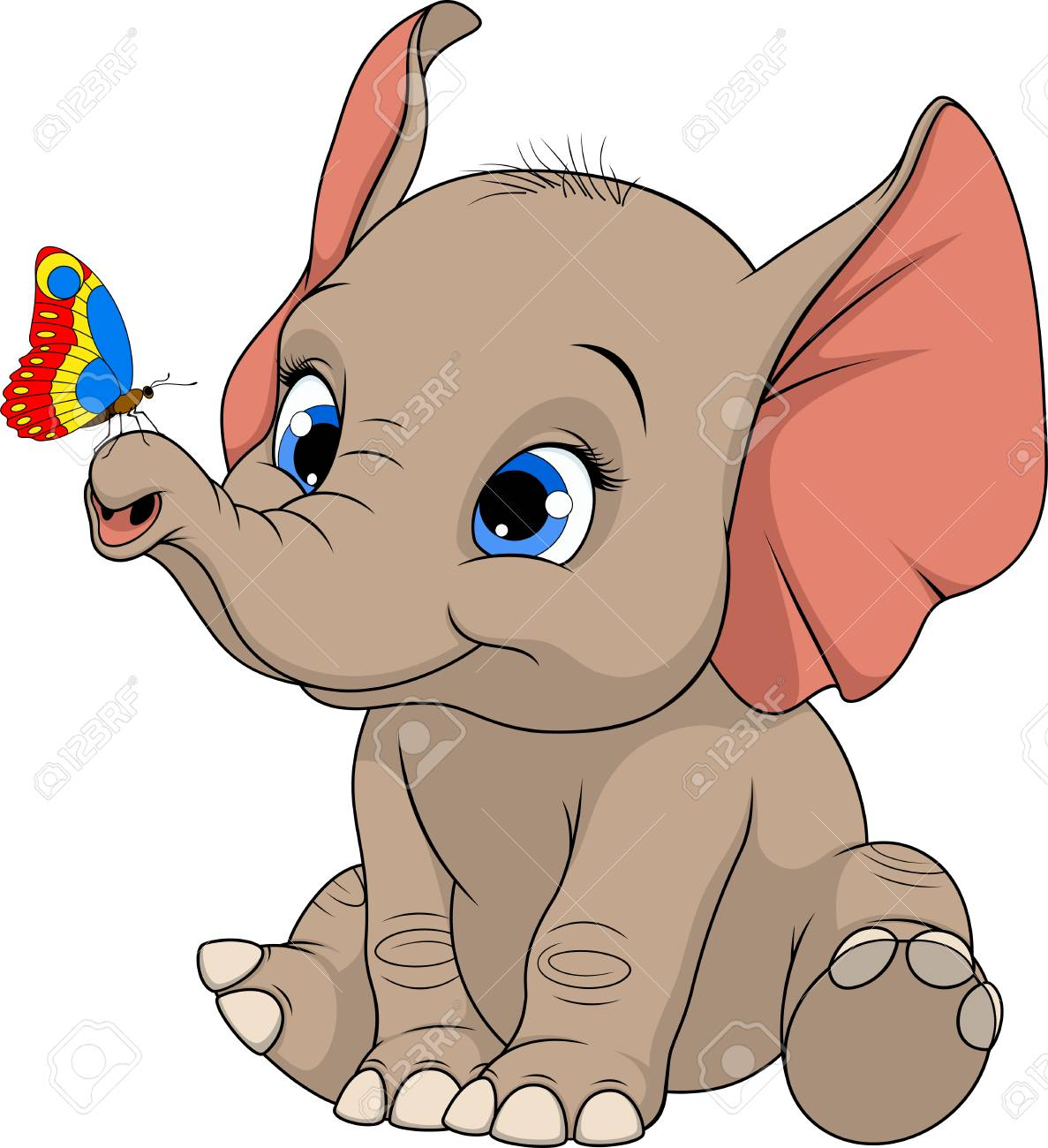 Free elephant clipart butterfly clip art pictures on ...