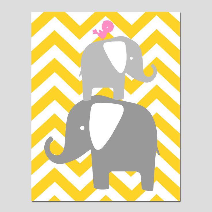 Elephant cliparts chevron.