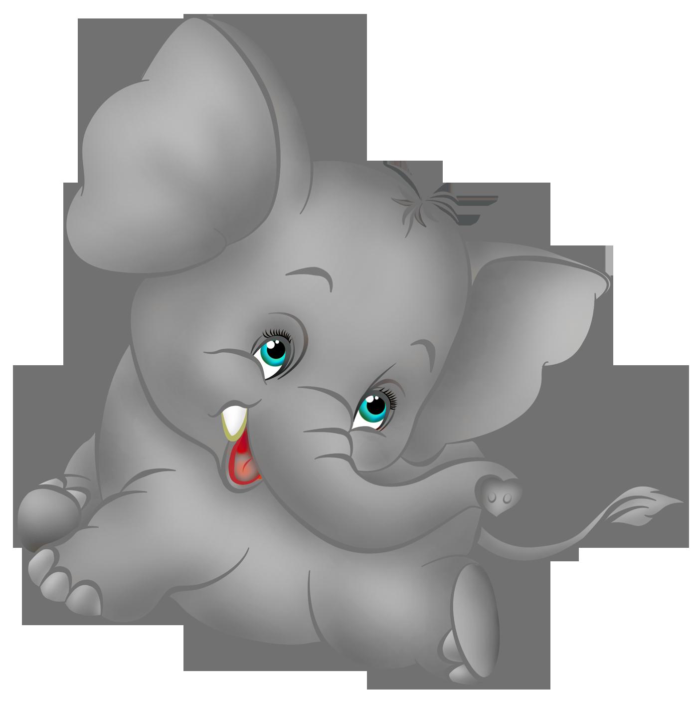 Grey elephant cartoon.
