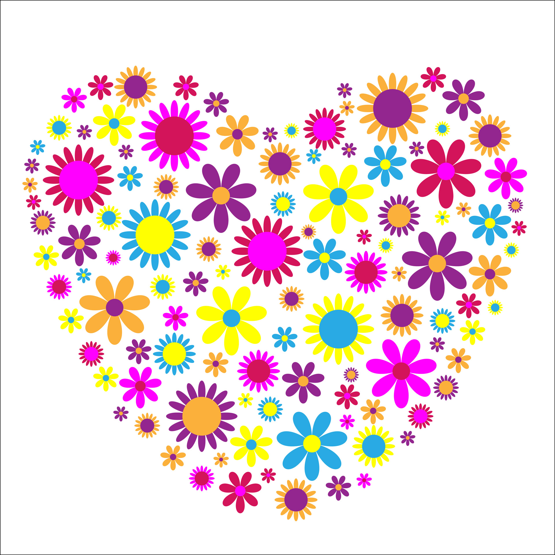 Floral heartfloralflowersheartcolorful free.