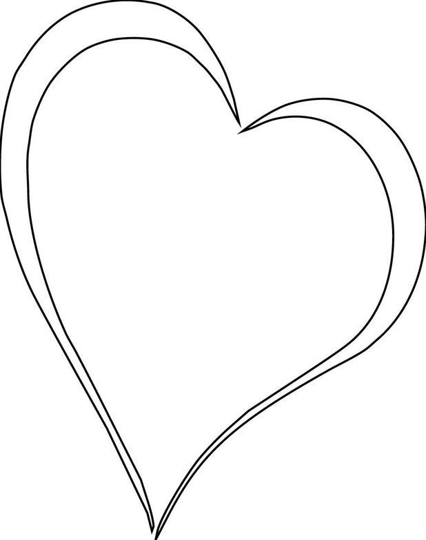 Free white heart.