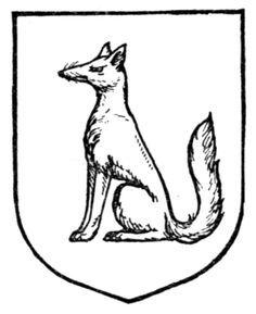 free heraldry cliparts medieval fox