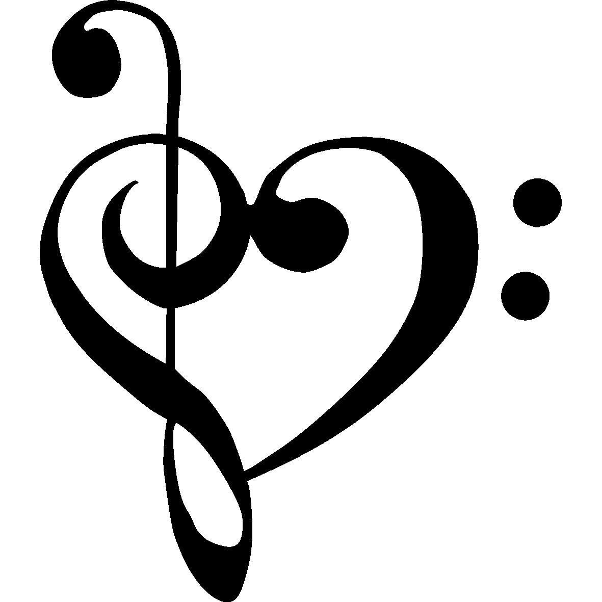 Heart clip art music.