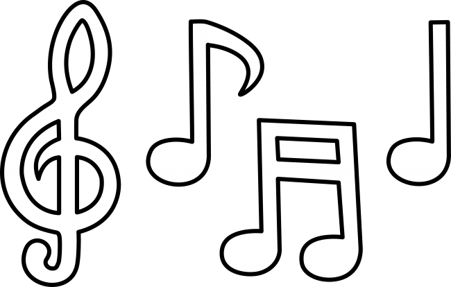 Free music note clip.