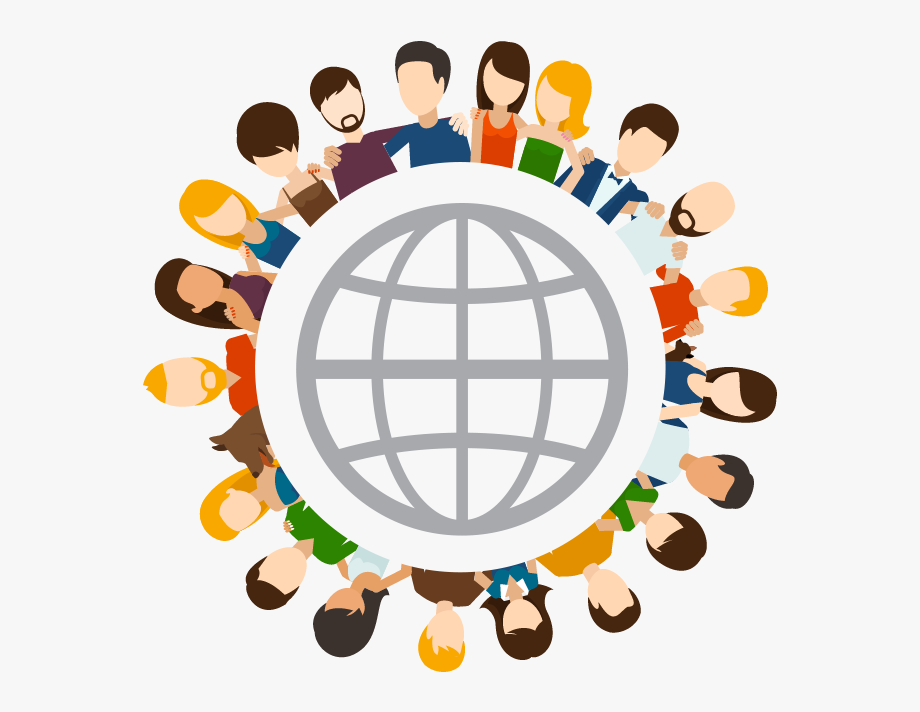 Global Friends Social Network Clipart , Png Download