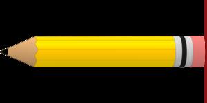 Yellow pencil clip.