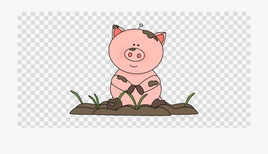 Pig clipart mud.