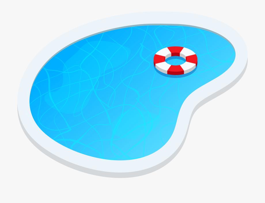 Swimming pool oval.