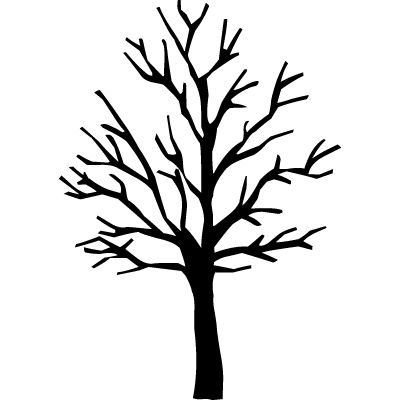 Bare tree silhouette.