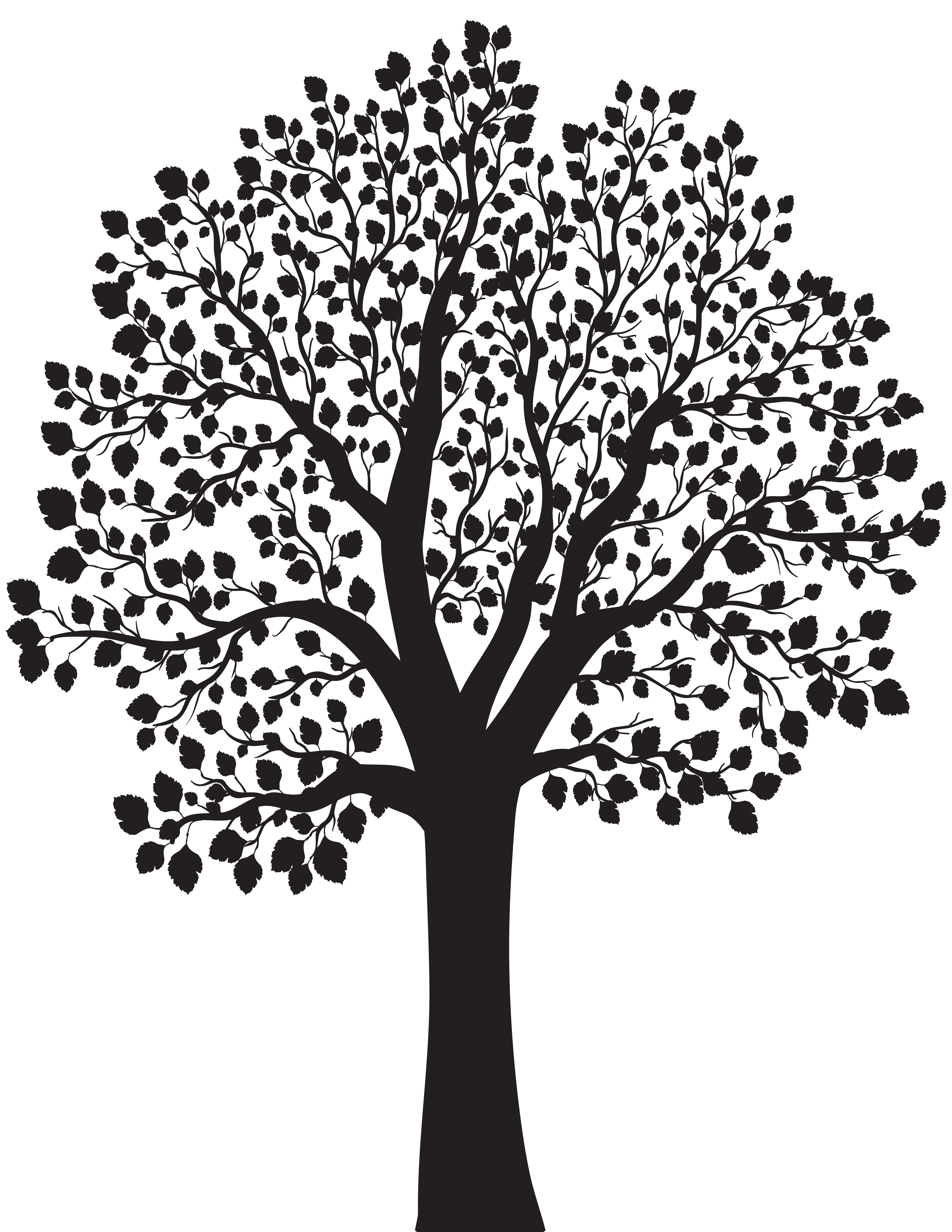 Tree silhouette png.