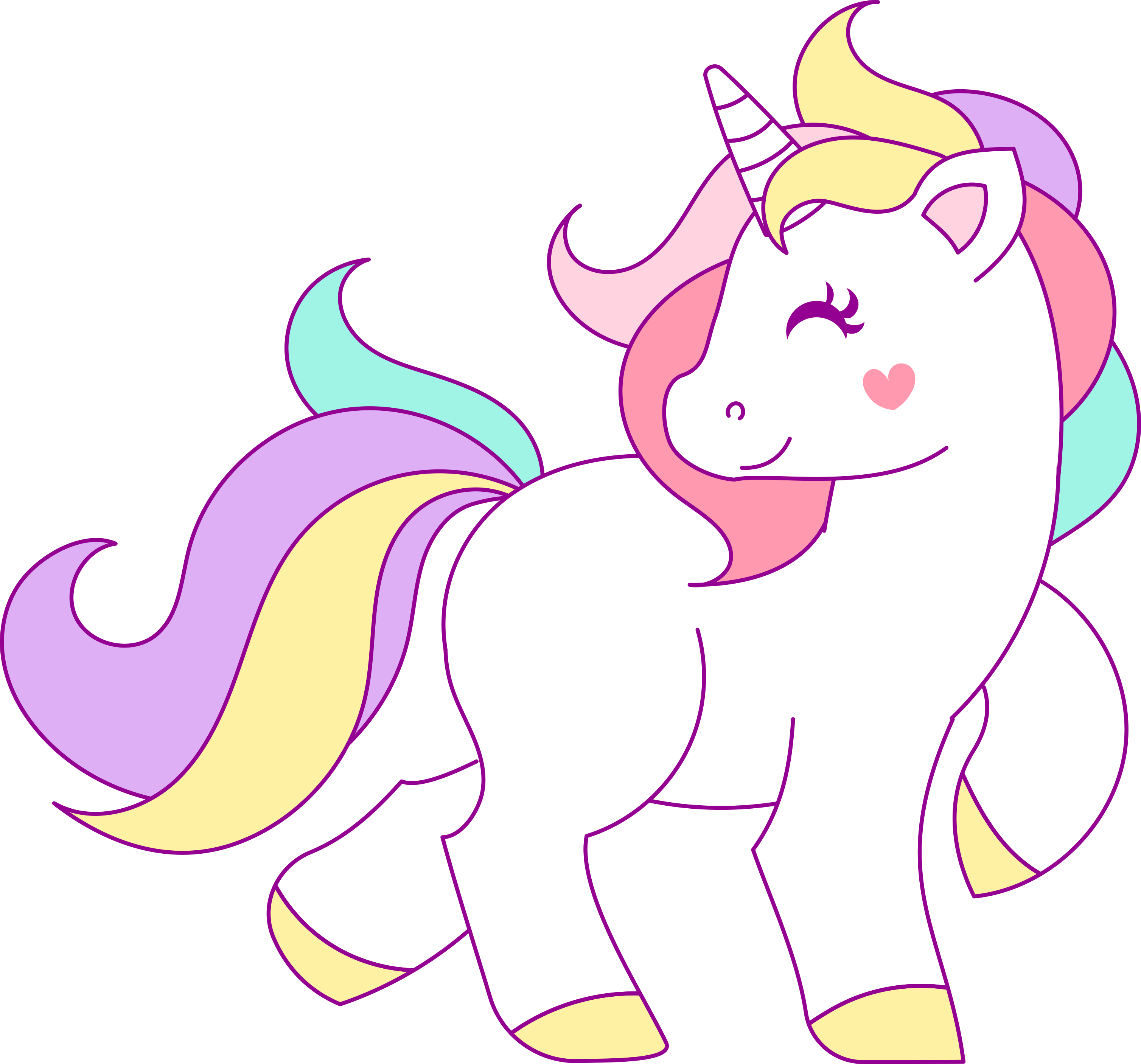 Nicorn beautiful unicorn transparent.