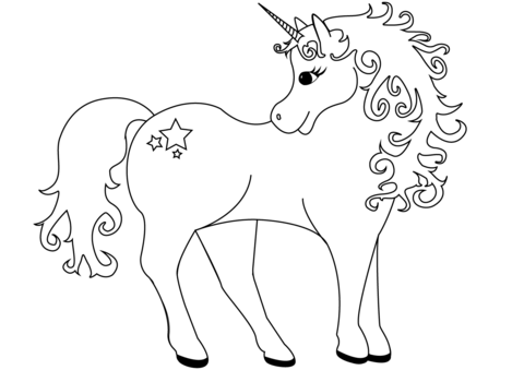 Lovely unicorn coloring.