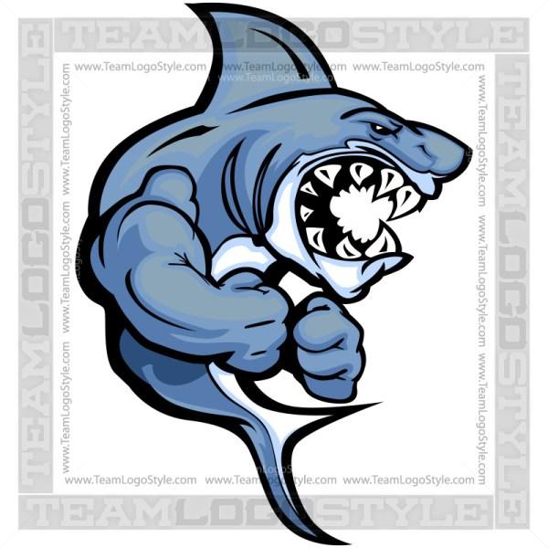 Muscular Shark Clip Art