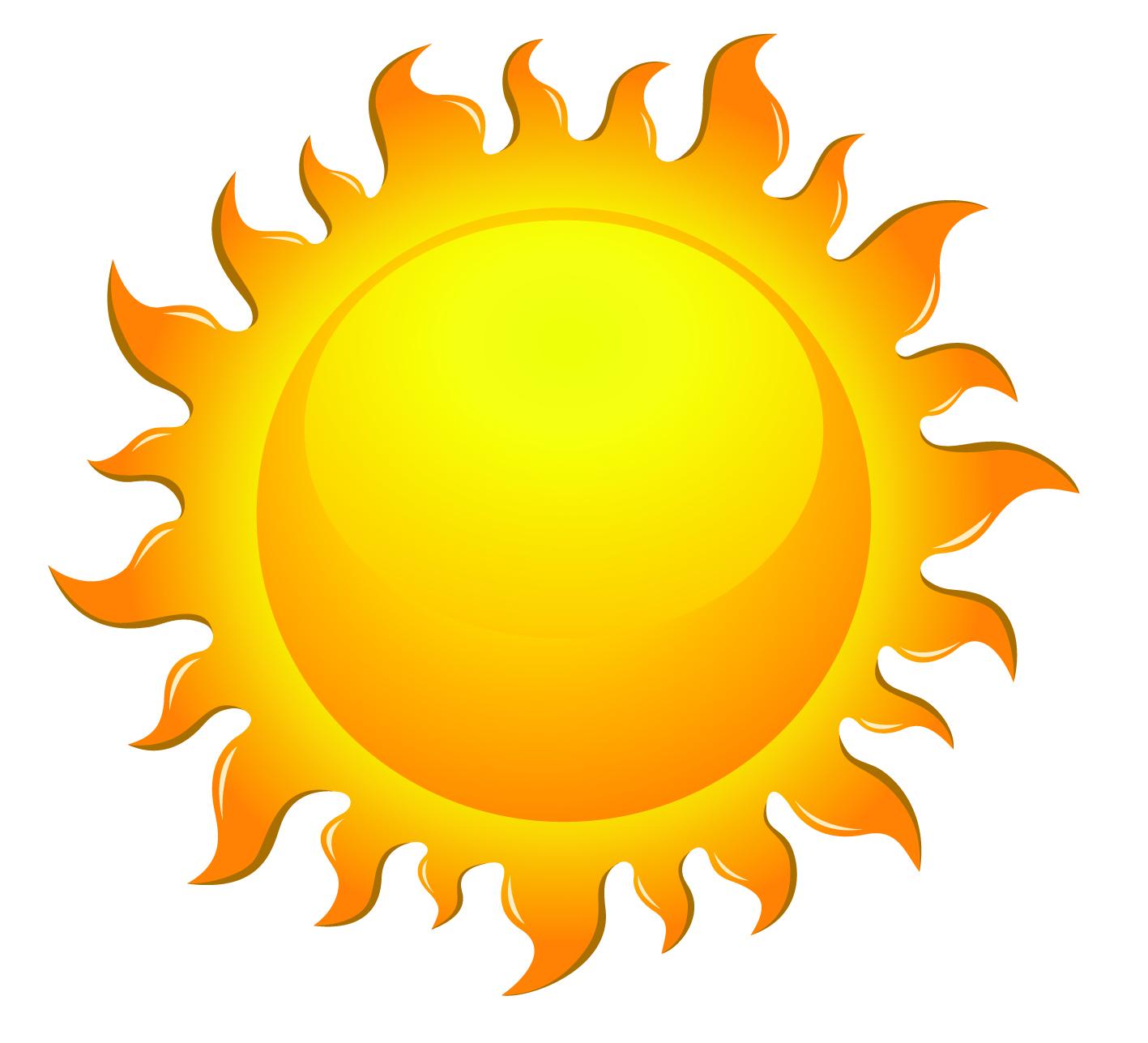 Free vector sun.