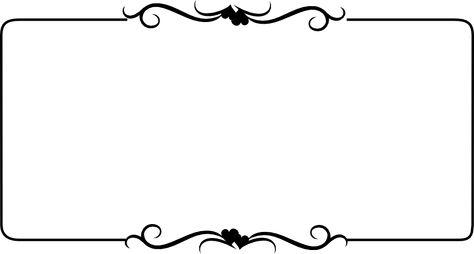 Black and white Heart Border free Clip Art