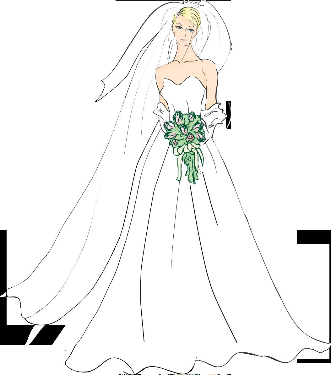 Free bride cliparts.