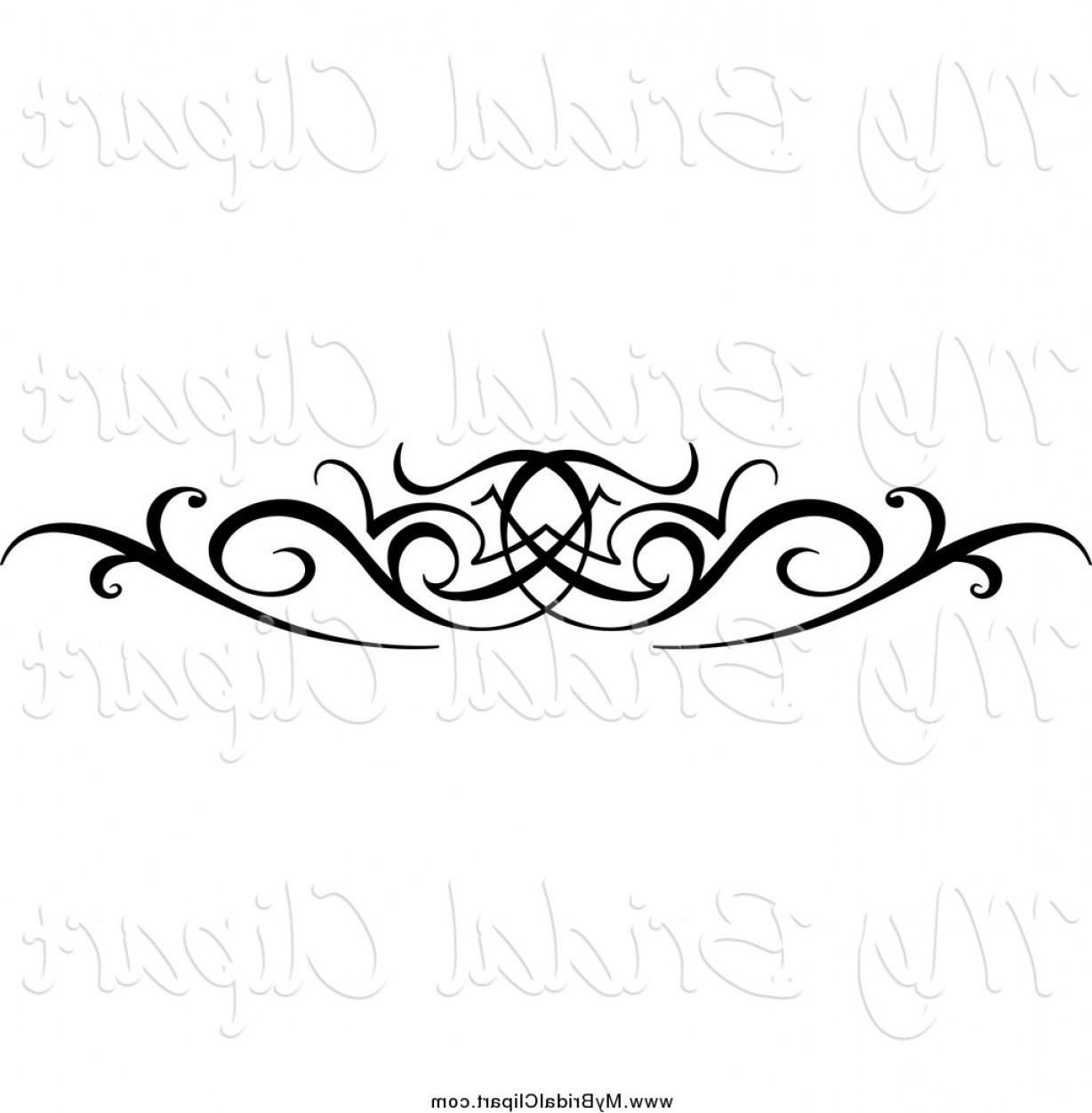 Black swirl design.
