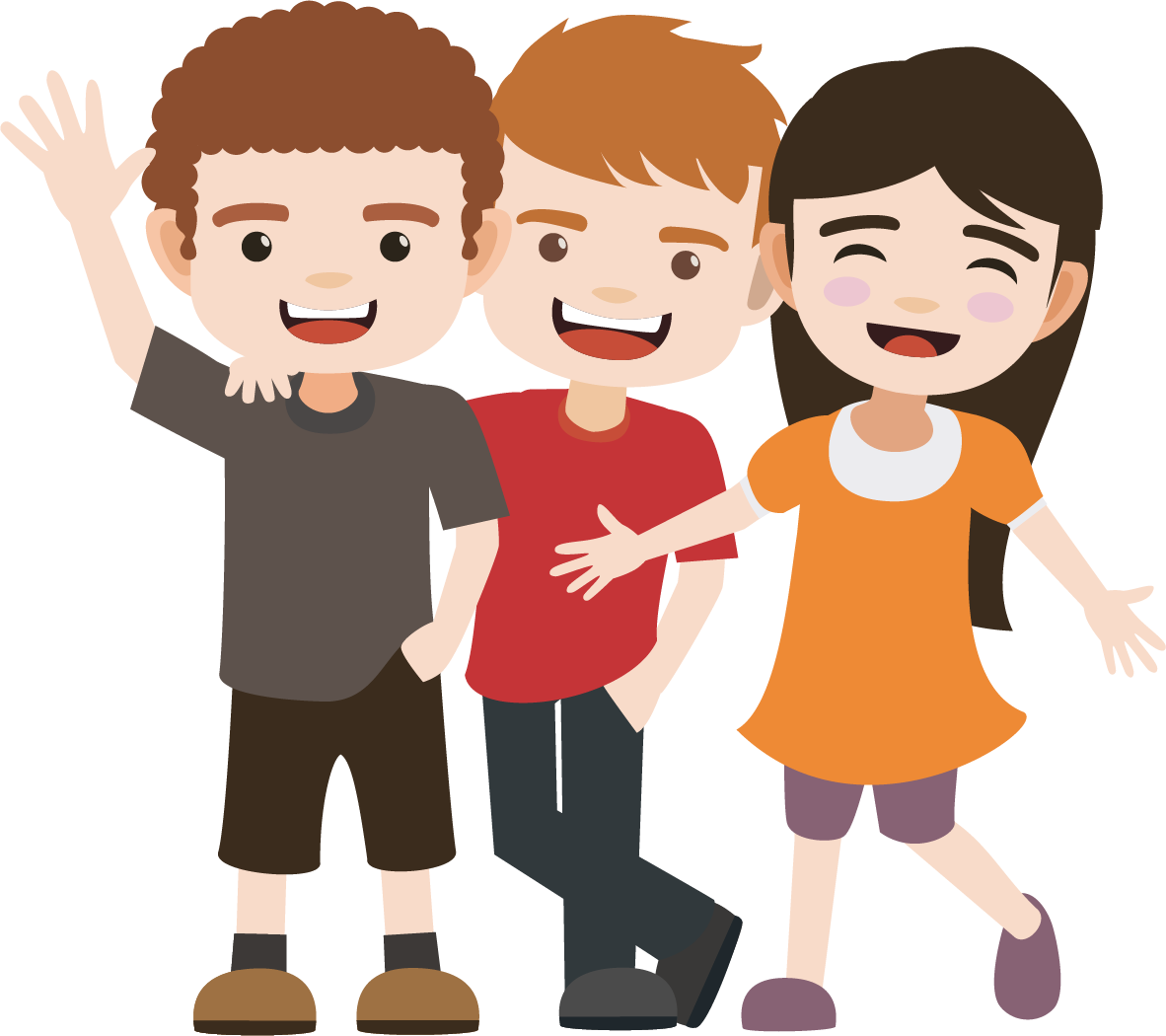 Friend clipart animated.