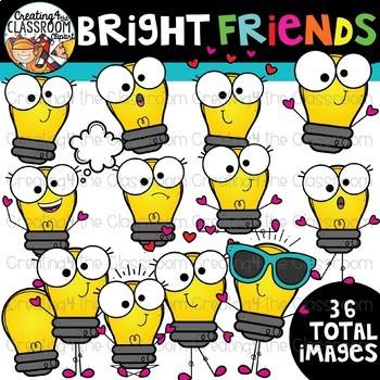 Bright friends clipart.