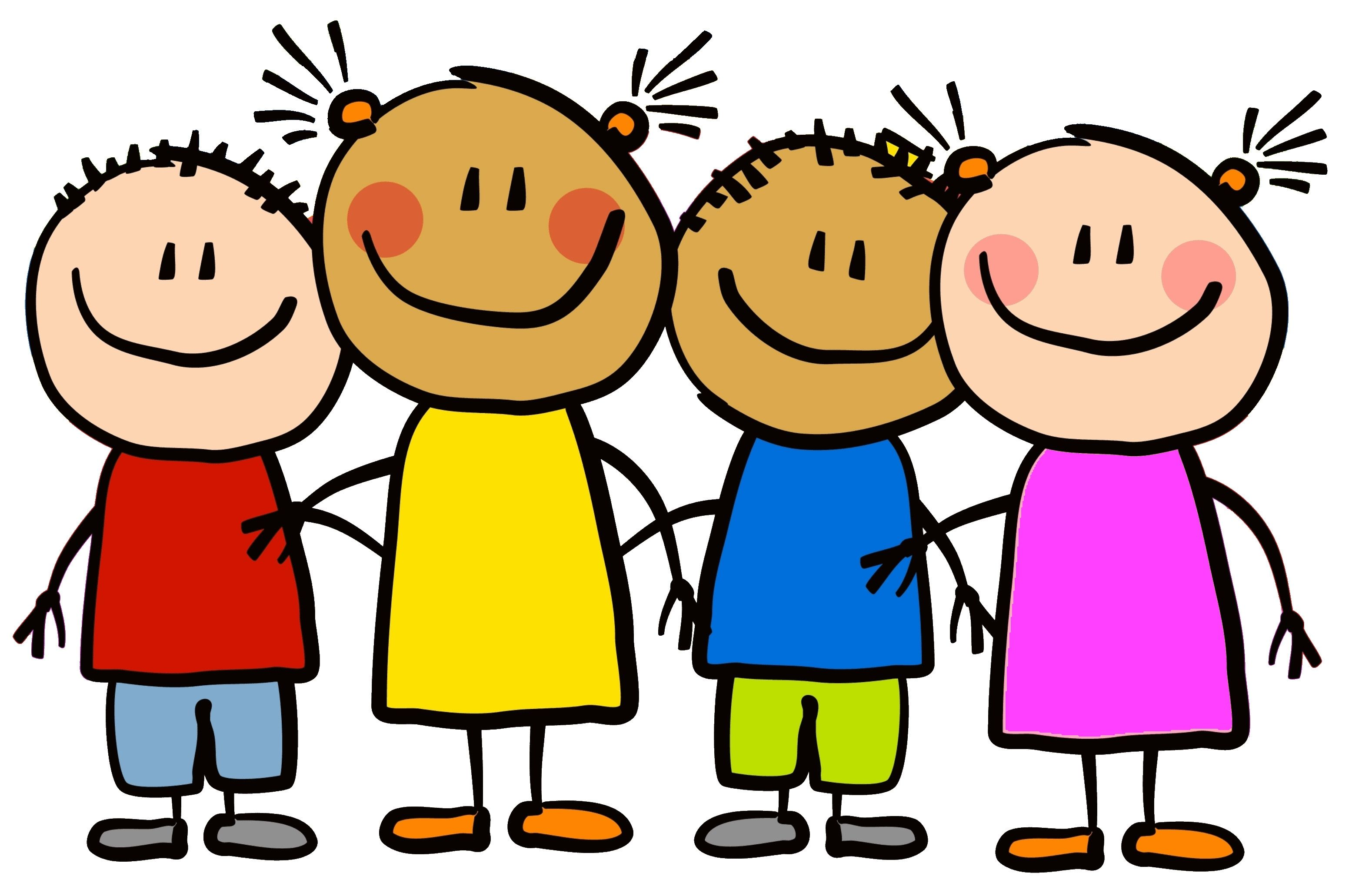 Preschool friends clipart.