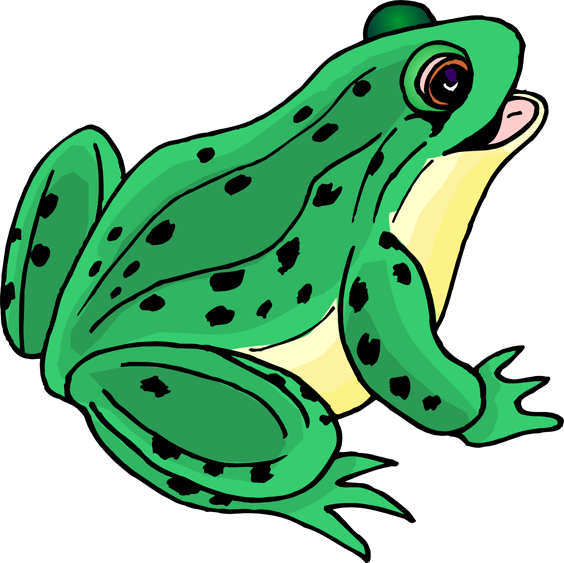 Free frog cliparts.