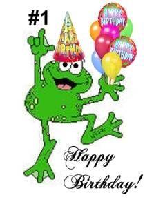 Happy birthday frog.