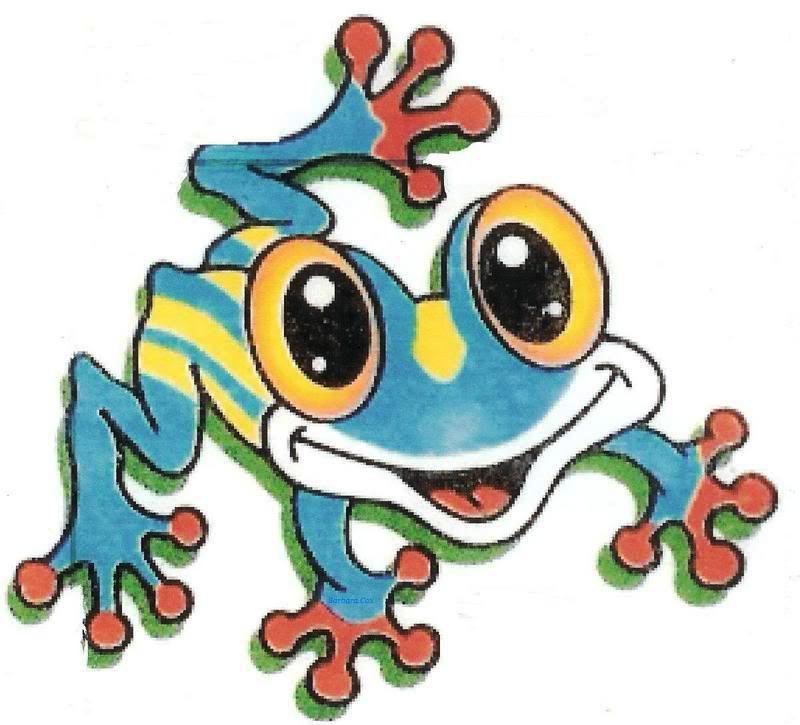 Funny blue frog.