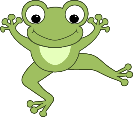Cute hopping frog clipart free images