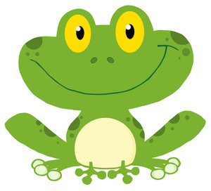 Frog clipart image.