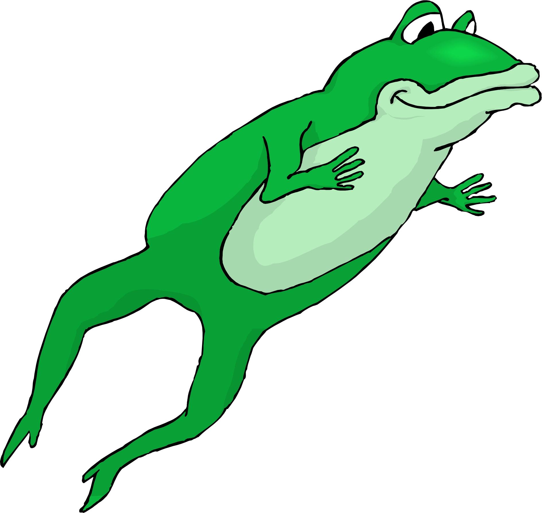 Free jumping frog.