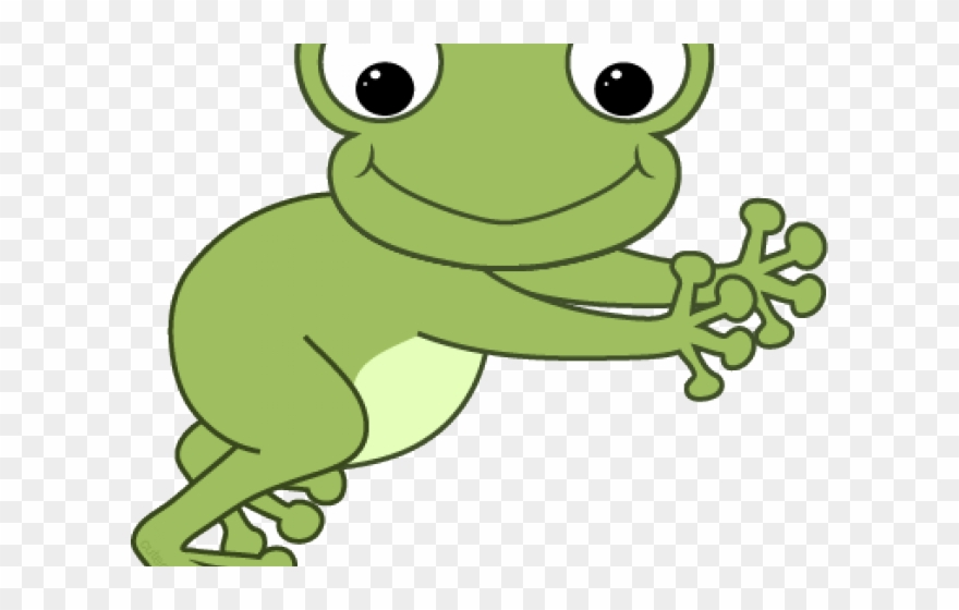 Green frog clipart.