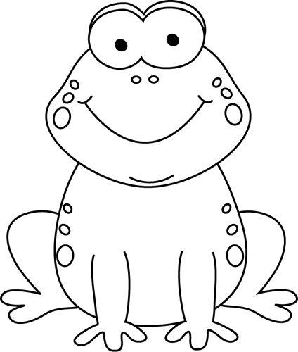 Frog clipart black.
