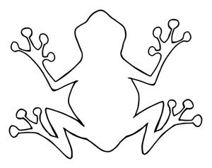 Frog outline party.