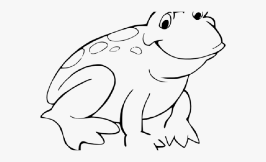 Frog clipart outline.