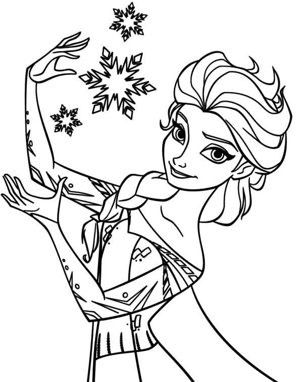 Elsa coloring pages.