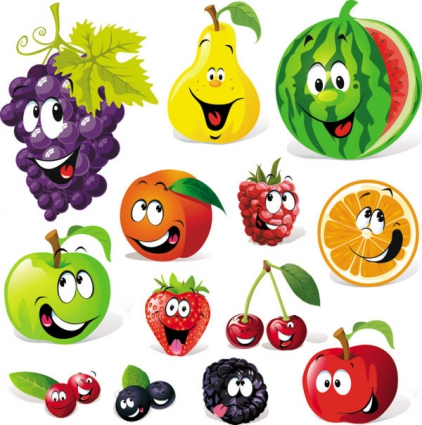 Free cartoon fruit.