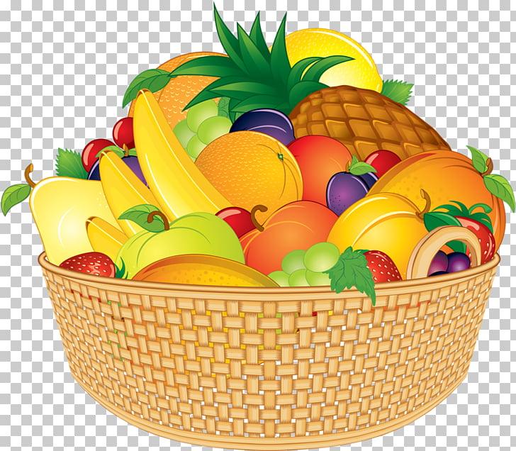 Basket fruit cartoon.