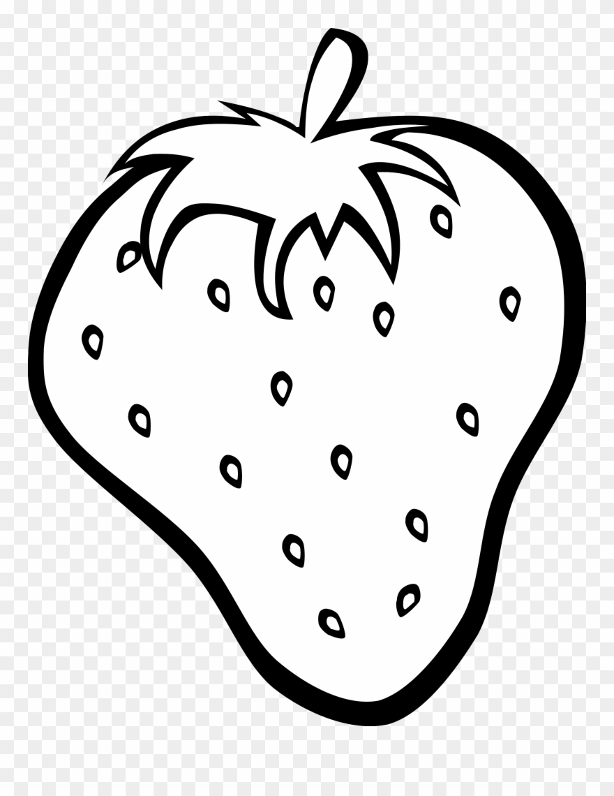 Fruits Clipart Black And White