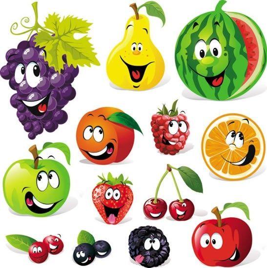 Cute fruit smiley.