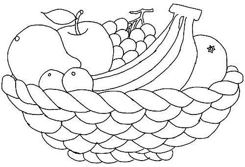 Basket fruits coloring.