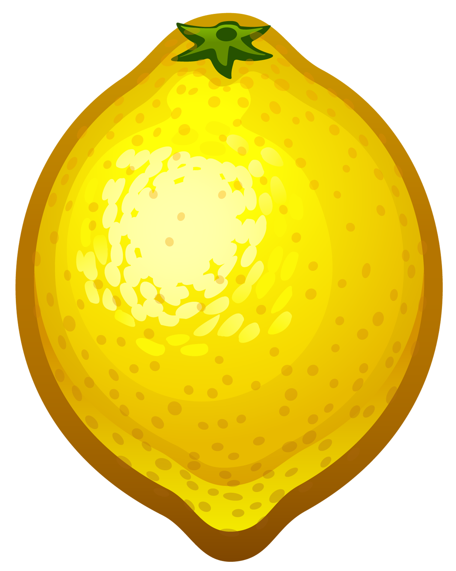Large painted lemon.